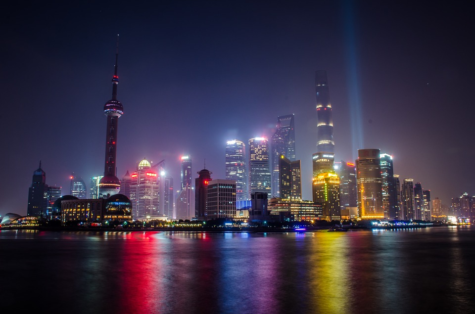 One of the most romantic sights in China, the Bund area at night.