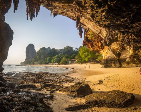 Don't forget to visit Phra Nang Cave Beach, one of the most beautiful beaches of Thailand - especially during sunset.