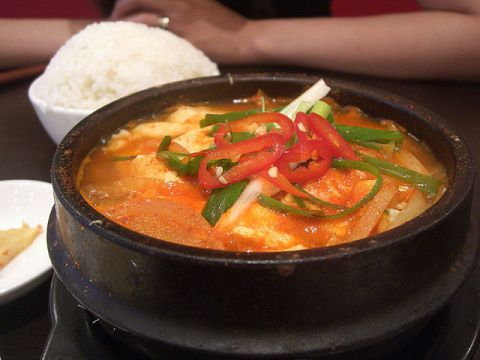 One of the most delicious soups you can try in a Korean restaurant is Soondooboo jjigae.