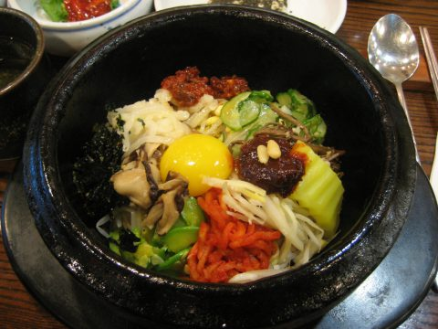 One of the most interesting dishes in a Korean restaurant is the bibimbap.