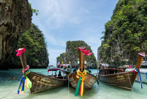 """Phi Phi Leh Island is the location of """"The Beach"""", and one of the most popular movie-inspired Asian destinations."""