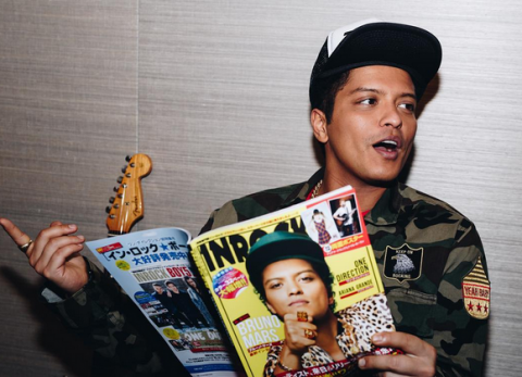 Some celebrities are Asian, like Bruno Mars.